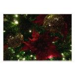 Maroon and Gold Christmas Tree Holiday Photo
