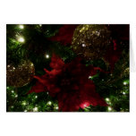 Maroon and Gold Christmas Tree Holiday Photo Card