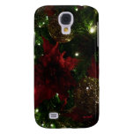 Maroon and Gold Christmas Tree Holiday Photo Galaxy S4 Cover
