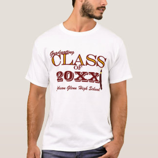 Maroon and Gold Custom Class of for Grads T-Shirt