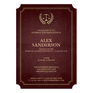 Maroon and Gold Law School Graduation Card