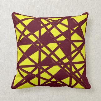 Maroon And Gold Throw Pillow