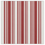 [ Thumbnail: Maroon and Light Cyan Colored Lined Pattern Fabric ]