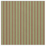 [ Thumbnail: Maroon and Light Green Striped/Lined Pattern Fabric ]