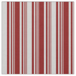 [ Thumbnail: Maroon and Light Grey Colored Pattern of Stripes Fabric ]