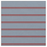 [ Thumbnail: Maroon and Light Slate Gray Colored Lines Fabric ]