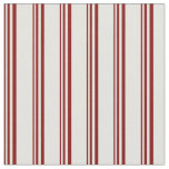 [ Thumbnail: Maroon and Light Yellow Lines/Stripes Pattern Fabric ]