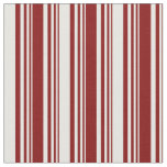 [ Thumbnail: Maroon and Mint Cream Colored Lines Fabric ]