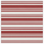 [ Thumbnail: Maroon and Mint Cream Colored Pattern of Stripes Fabric ]