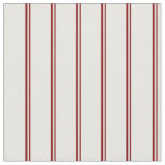[ Thumbnail: Maroon and Mint Cream Colored Striped Pattern Fabric ]