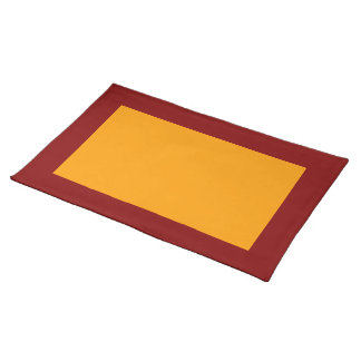 Maroon and Orange Placemat
