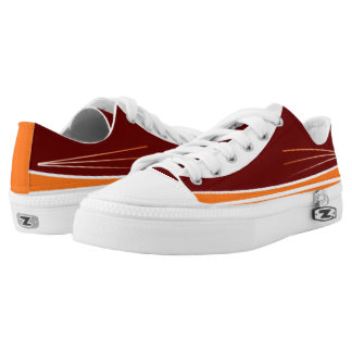 Maroon and Orange Tres Lo-Top