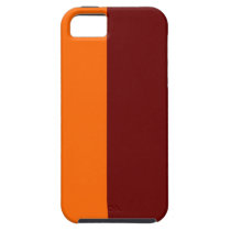 Maroon and Orange Vibe iPhone 5 Case