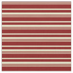 [ Thumbnail: Maroon and Pale Goldenrod Pattern of Stripes Fabric ]