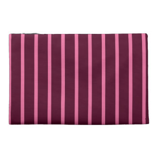 Maroon and pink stripes on a clutch bag. travel accessories bags