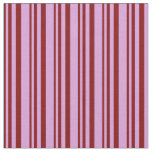 [ Thumbnail: Maroon and Plum Lines/Stripes Pattern Fabric ]