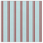 [ Thumbnail: Maroon and Powder Blue Colored Stripes Pattern Fabric ]