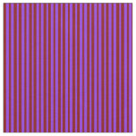 [ Thumbnail: Maroon and Purple Colored Stripes Fabric ]