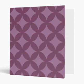Maroon and Purple Geocircle Design 3 Ring Binder