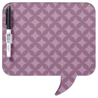 Maroon and Purple Geocircle Design Dry Erase Board