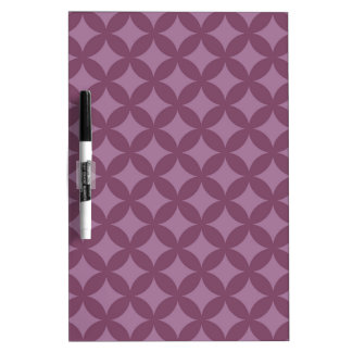 Maroon and Purple Geocircle Design Dry-Erase Board