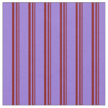 [ Thumbnail: Maroon and Purple Lines Pattern Fabric ]