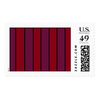 Maroon and Purple Stripes Postage