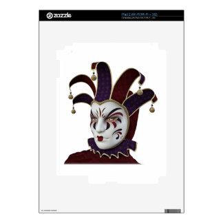 Maroon and Purple Venetian Carnivale Mask Skin For iPad 2
