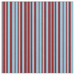 [ Thumbnail: Maroon and Sky Blue Colored Pattern of Stripes Fabric ]