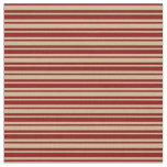 [ Thumbnail: Maroon and Tan Colored Pattern Fabric ]