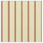 [ Thumbnail: Maroon and Tan Colored Stripes Pattern Fabric ]