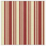 [ Thumbnail: Maroon and Tan Lines Fabric ]