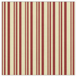 [ Thumbnail: Maroon and Tan Lines Pattern Fabric ]