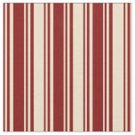 [ Thumbnail: Maroon and Tan Pattern of Stripes Fabric ]