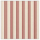 [ Thumbnail: Maroon and Tan Stripes Pattern Fabric ]
