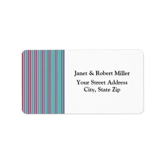 Maroon And Teal Horizontal Stripes Label