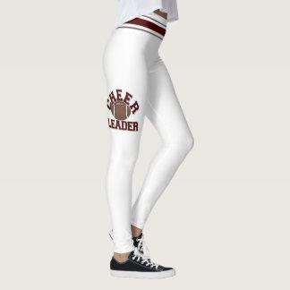 Maroon and White Cheerleaders Personalize Leggings