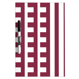 Maroon and White Combs Tooth Dry-Erase Board