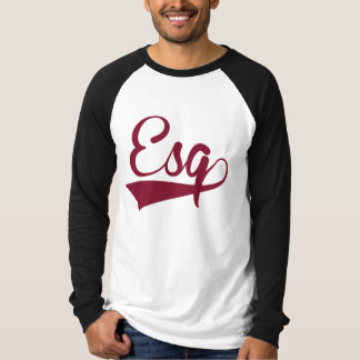Maroon and White Esquire Long Sleeved Ragland T-Shirt