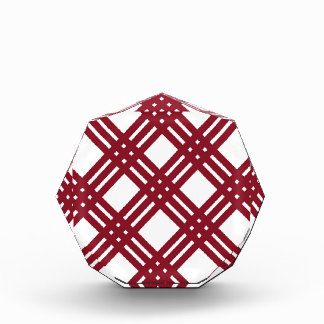 Maroon and White Gingham Award