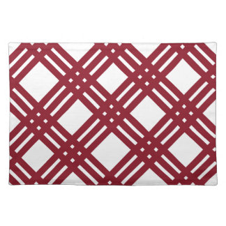 Maroon and White Gingham Cloth Placemat