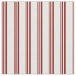 [ Thumbnail: Maroon and White Lines/Stripes Pattern Fabric ]
