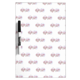 Maroon and White Phalaenopsis Orchids Side by Side Dry-Erase Board