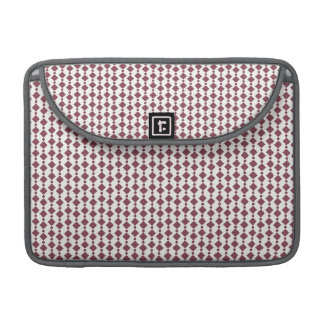 Maroon and White Retro Pattern Sleeve For MacBook Pro