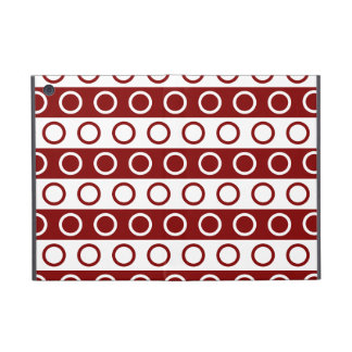 Maroon and White Stripes and Polka Dots Cover For iPad Mini