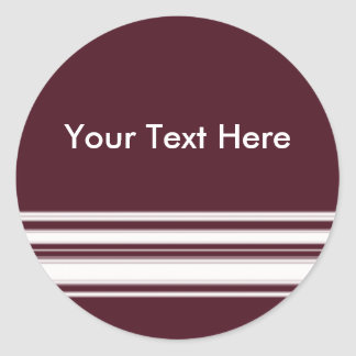 Maroon and White Stripes Sticker