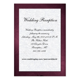 Maroon and White Wedding Enclosure Card Business Card Templates