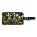 Maroon and Yellow Tulips Colorful Floral Bag Tag