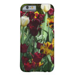Maroon and Yellow Tulips Colorful Floral Barely There iPhone 6 Case