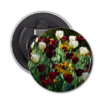 Maroon and Yellow Tulips Colorful Floral Bottle Opener